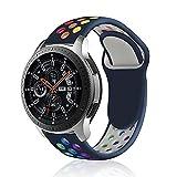 Rosok Transpirable Watch Correa Compatible con Samsung Gear S3 Frontier / Gear S3 Classic, Deportivas de Silicona Arco Iris...