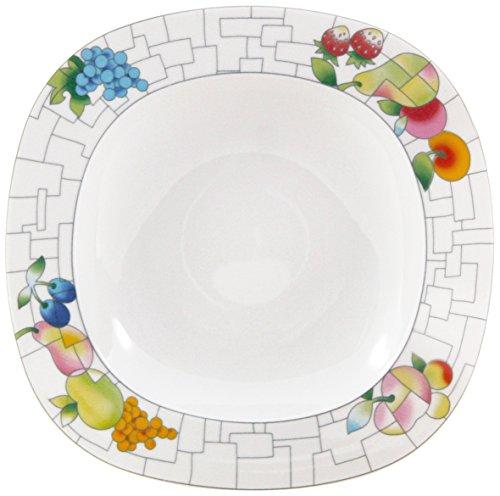 Thun Leon puzzel plat, porselein, wit, 27 cm