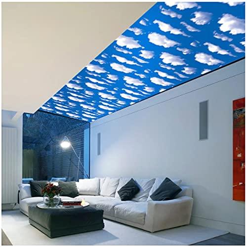Cielo Azul Y Nubes Blancas Techo Techo Pegatinas De Pared Autoadhesivas Sala De Estar Dormitorio Decoración Del Hogar Adesivo 3d 45 Cm * 10 M