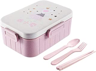 AMITD Bento Nette - Caja de almuerzo para microondas, comedor, almacenamiento de comida infantil, escuela, oficina, portátil, Bento Box