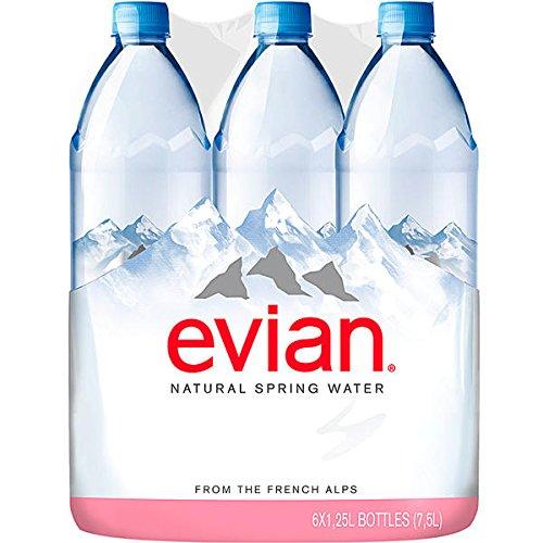 EVIAN Premium Natural Spring Water Natürliches Mineralwasser 6 x 1,25l EINWEG