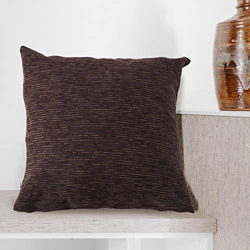 BCASE Funda Fantasy Cojin 45x45 cm, Funda Cojin Decorativa, 100% Poliéster, Suave y Moderna para Habitación, Sofá, Cama etc Color Chocolate