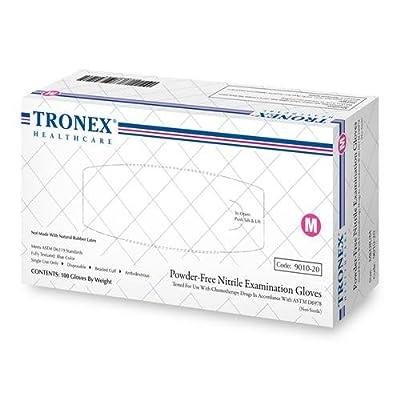 9010-20 - Medium - Nitrile Examination Gloves, Tronex - Box of 100