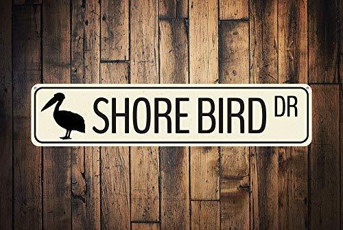Shore Bird Dr Sign Custom Ocean Animal Drive Sign Metal Beach Street Sign...