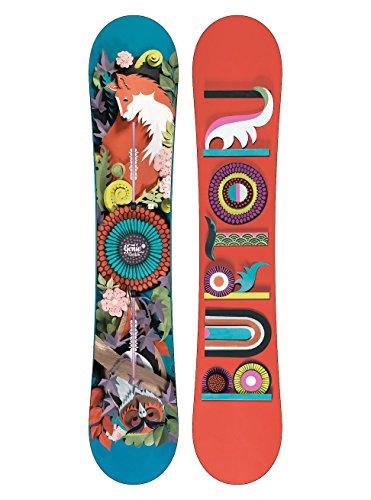 Burton Damen Genie Snowboard, Schwarz, 152