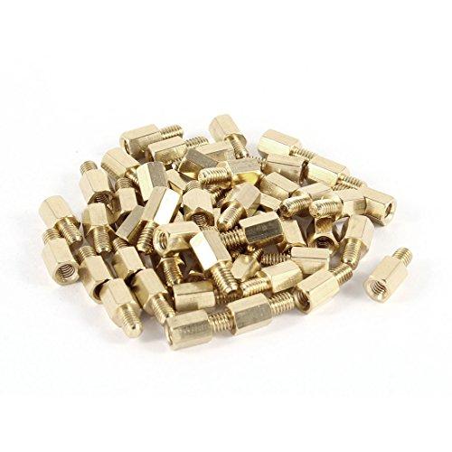 Abstandshalter aus Metall, sechseckig, M4 x 8 mm weiblich auf M4 x 6 mm männlich (zusammen M4x8+6mm)