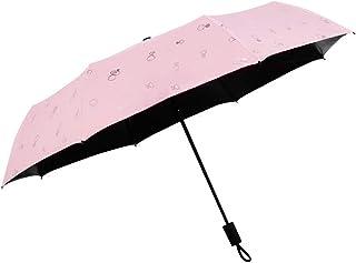 方朝日スポーツ用品店 女性のピンクのパラソル夏の屋外ポータブル折り畳み太陽の傘windproof (Color : ピンク)