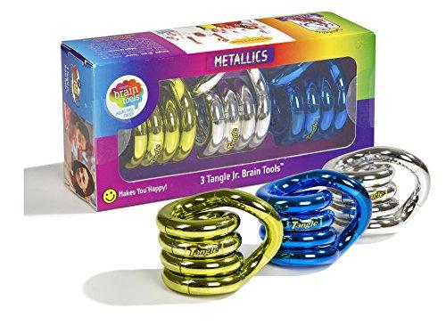 Tangle Jr. Metallics Set of 3 Tangle Jr. Brain Tools (Assorted Colors)
