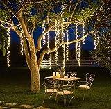 HOPEMOB Racimo Led 3 Tiras Luces Colgantes de 0.50 a 3.5 mts Decoracion Boda Cumpleaños Navidad Jardines Eventos Especiales
