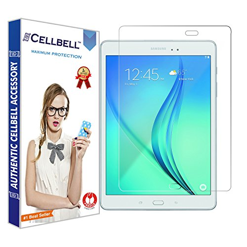 CELLBELL® Tempered Glass Screen Protector for Samsung Galaxy Tab A 9 7 SM T550 with Free Installation Kit