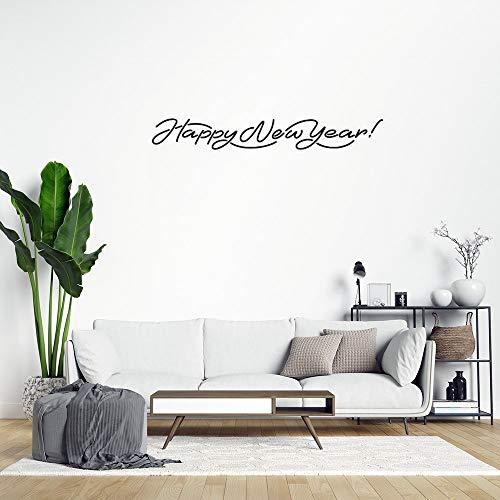 Adhesivo decorativo para pared con texto en inglés 'Happy New Year'
