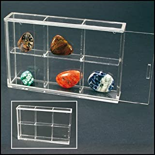 Rock and Mineral Acrylic Display Case Small with 6 compartments