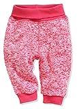 Schnizler Baby-Unisex Pumphose Strickfleece mit Strickbund Jogginghose, Rosa (Pink 18), 74