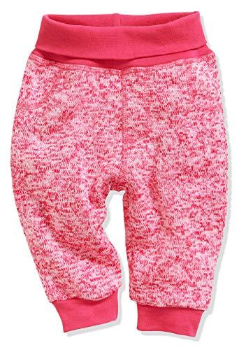 Schnizler Baby-Unisex Pumphose Strickfleece mit Strickbund Jogginghose, Rosa (Pink 18), 86
