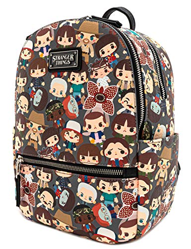 Loungefly Stranger Things Baby Characters Chibi All Over Print Mini mochila