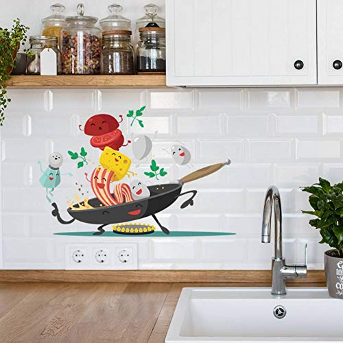 MMLFY Muursticker Happy Pot Keuken Muursticker Keuken Koelkast Kast Art Deco Afneembare Home Sticker Mural Wallpaper