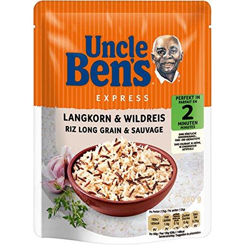 Uncle Ben's® Express-Reis Langkorn & Wild-Reis 250g