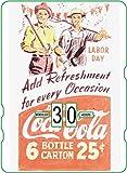 Calendario perpetuo vintage CocaCola 'Add Refreshment LaborDay'