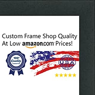 Poster Palooza 17x17 Contemporary Black Wood Picture Square Frame - UV Acrylic, Foam Board Backing, Hanging Hardware Included!