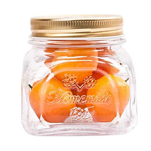 H·Aimee Tarros De Cristal con Tapa Transparentes,300ml Botes Hermeticos Cristal Botes Cocina Almacenaje Tarro Chuches Bote Transparente Cristal 1 Pieza