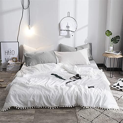 Blatt Tagesdecke Bettüberwurf Gesteppt, Chickwin Seersucker Einfarbig Tagesdecke Schlafzimmer Steppdecke Decke Überwurf Wohnzimmer Sofaüberwurf für Einzelbett (Weiß,150x200cm)