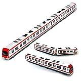 VANTIYA Modèle de Train, 4pcs Toy Car Set en Alliage de Train de métro de métro de la Ville modèle, 1/64 échelle de métro Alliage / modèle de Voiture ToysPlay, Blanc Rouge