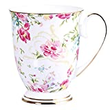 AWHOME Royal Fine Bone China Coffee Mug Assorted colors Tea Cup 11 oz (1, color)