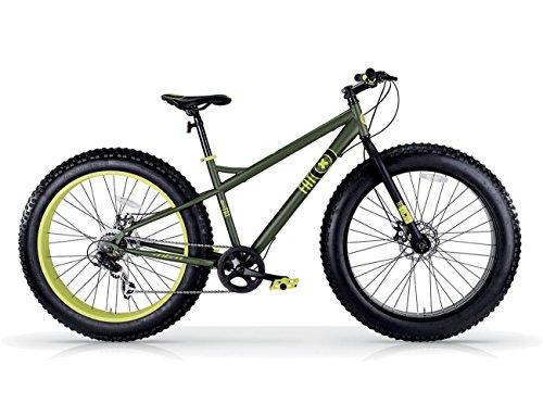 MBM Fat Machine 26' 7V F. A Disco MECC, Bici Unisex Adulto, Verde Mil A42, XX