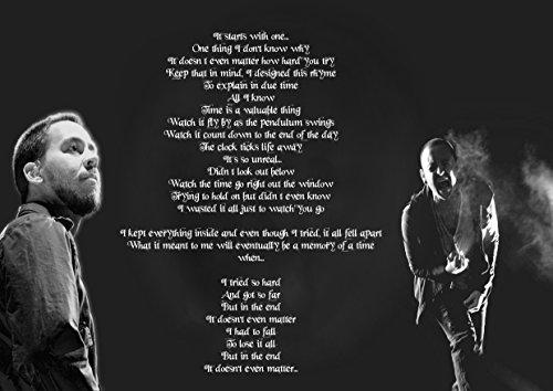ula bear In The End Linkin Park Chester Bennington, Póster A4 Laminado, Grande, Roca, Metal, álbum, Cubierta, diseño, música, Banda, Mejor, Foto, Imagen, único, impresión, Licra,