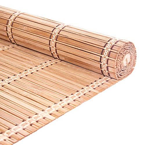 LHF123 Tenda di bambù Naturale, Tapparella in bambù Tenda a Rullo per La Privacy Avvolgibile Bamboo,per Giardino Balcone Porta Finestra,Tasso di Ombreggiatura 75%,Personalizzabile (70x80cm/28x32in)