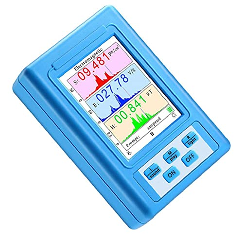 Detector de radiación de campo electromagnético del medidor EMF BR-9A Contador del probador de pantalla LCD, detector de radiación electromagnética