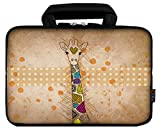 iColor 12' Laptop Handle Bag 11.6' 12.2 inch Neoprene Notebook Tablet Sleeve Computer PC Carrier Protection Cover Case Pouch (CuteGiraffe)
