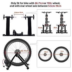 Yaheetech Rodillo Entrenamiento Bicicleta Plegable 26 Pulgadas a 28 Pulgadas Rodillos para Bicicletas de Montaña en Casa