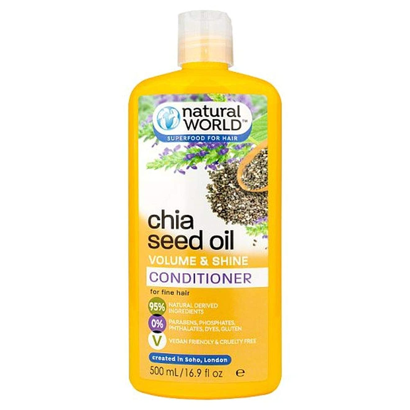 死すべきバーマドくつろぎ[Natural World ] 自然界チアシードコンディショナー500ミリリットル - Natural World Chia Seed Conditioner 500Ml [並行輸入品]
