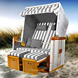 """Ein Hauch von Strandurlaub bei Ihnen Zuhause - mit unserem BRAST 2-Sitzer Strandkorb Nordsee """"Norderney"""" in 3 Designs zur Auswahl werden Sie den Sommer noch mehr genießen können! Wir haben anders als viele Mitbewerber noch 2 zusätzliche, dicke Fußban..."""