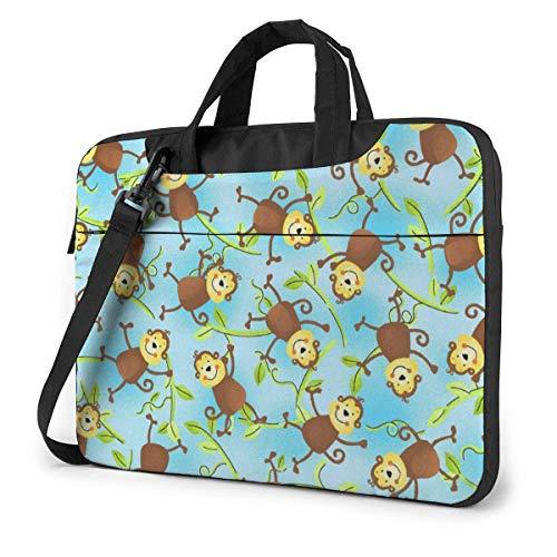 Bolsa de hombro para portátil Monos Azul en Vines Bolsa de ordenador portátil Ordenador Tote Bag Messenger Maletín 13/14/15.6 pulgadas