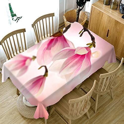 XXDD Mantel de Flores de Colores 3D Mantel de Boda Rectangular Lavable a Prueba de Polvo Cubierta de Mesa para el hogar A4 150x210cm