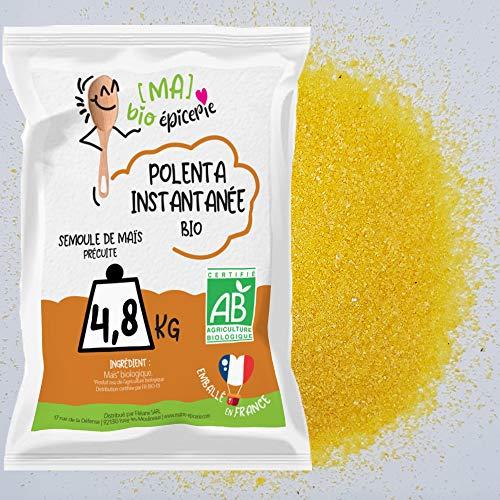 [Ma] bio-épicerie | Polenta instantanée BIO | 4,8 Kg | Sachet vrac | Semoule de maïs | Certifié biologique | Sans gluten