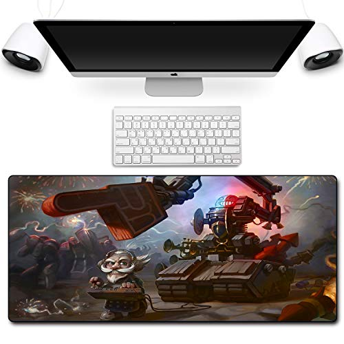 HOTPRO Alfombrillas de Ratón Anime- Gaming Mousepad 800X300X3MM - Base de Goma Antideslizante - para Gamers,PC y Portátil Hearthstone Legend-2