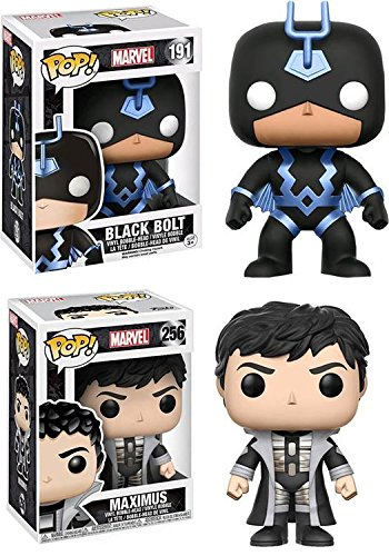 Funko POP! Marvel Inhumanos: Black Bolt + Maximus