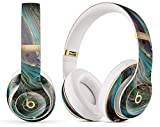 Marble Pattern Design Skinz Premium Full-Body Cover Wrap Decal Skin-Kit Compatible with The Beats by Dre Solo 2/3 Wireless - Swirling Dark Acrylic Marble
