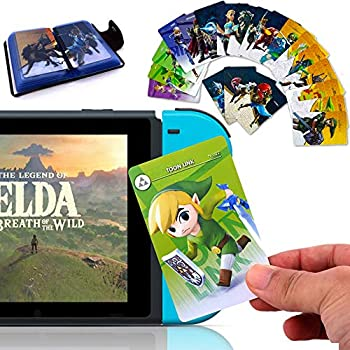 SoB 24Pcs The Legend of Zelda Breath of The Wild NFC Cards [Newest Version] Compatible with Switch/Lite Wii U - with Cards Holder