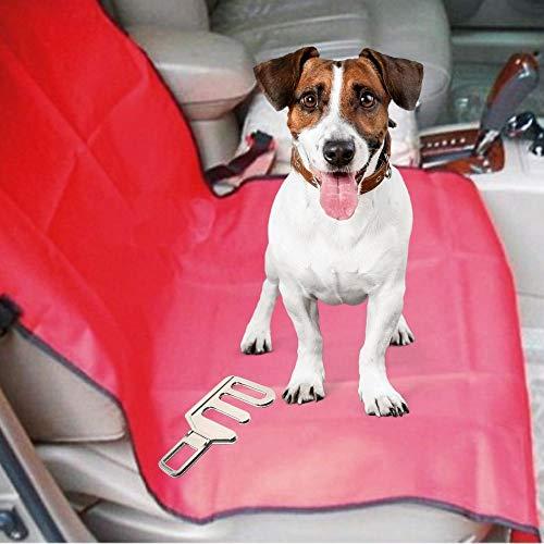 Set de Funda Protectora de Asientos Individual y Enganche cinturón de Seguridad para Perros para el Coche (Pack 2 x 1)