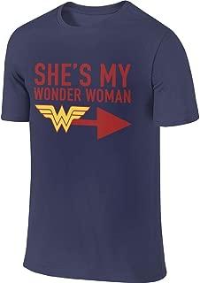 Men's Customized Classic Tops She's My Wonder Woman T-Shirt