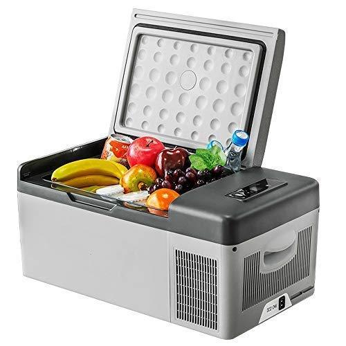 FZYE Nevera eléctrica para Camping, compresor, refrigerador para Coche, 15 litros, 12 V, 24 V, congelador, Apto para Acampar al Aire Libre, Coche y Familia (Blanco)
