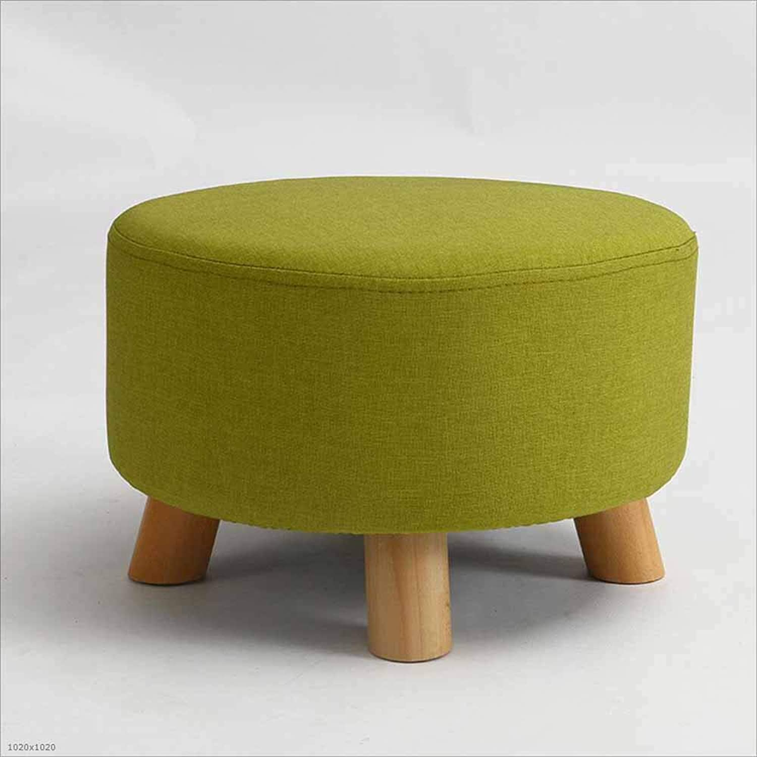 Sofa Stool Solid Wood Stool Fabric Washable Coffee Table Stool Small Stool Suitable for Living Room Bedroom, 1