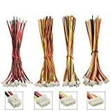 XINGYHENG 60Pcs Mini Micro 2.0mm 2PIN 3PIN 4PIN 5PIN Connection Cable 26AWG Single Head ShellforLED Lamp Strip RC Toys Battery 150mm Compatible with JST PH