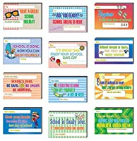 Creanoso Appreciate School Break Positive Postcards (36-Pack) – Unique Inspirational Note Card Bulks Assorted Pack – Cool Giveaways for Teachers to Students – School Break Greeting Cards Collection [並行輸入品]