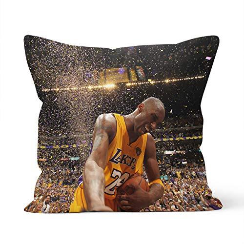 Funda de cojín con diseño de estrella de la NBA Kobe Home Dormitorio, cojín decorativo, tamaño 40 x 40 cm
