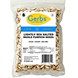 GERBS Lightly Sea Salted Whole Pumpkin Seeds, 64 ounce Bag, Roasted, Top 14 Food Allergy Free, Non GMO, Vegan, Keto, Paleo Friendly